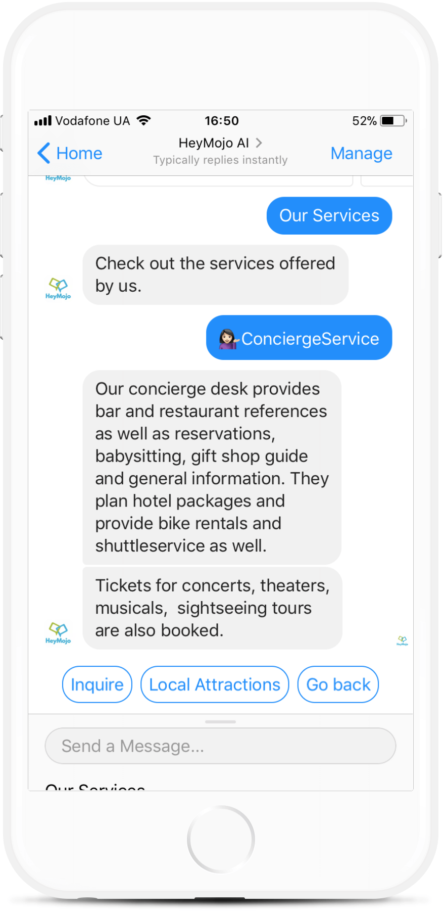 Messenger chatbot for hotels from $99/mo   #messenger #bottemplates #bots #chatbots #aibots #fbmessenger #botmakers