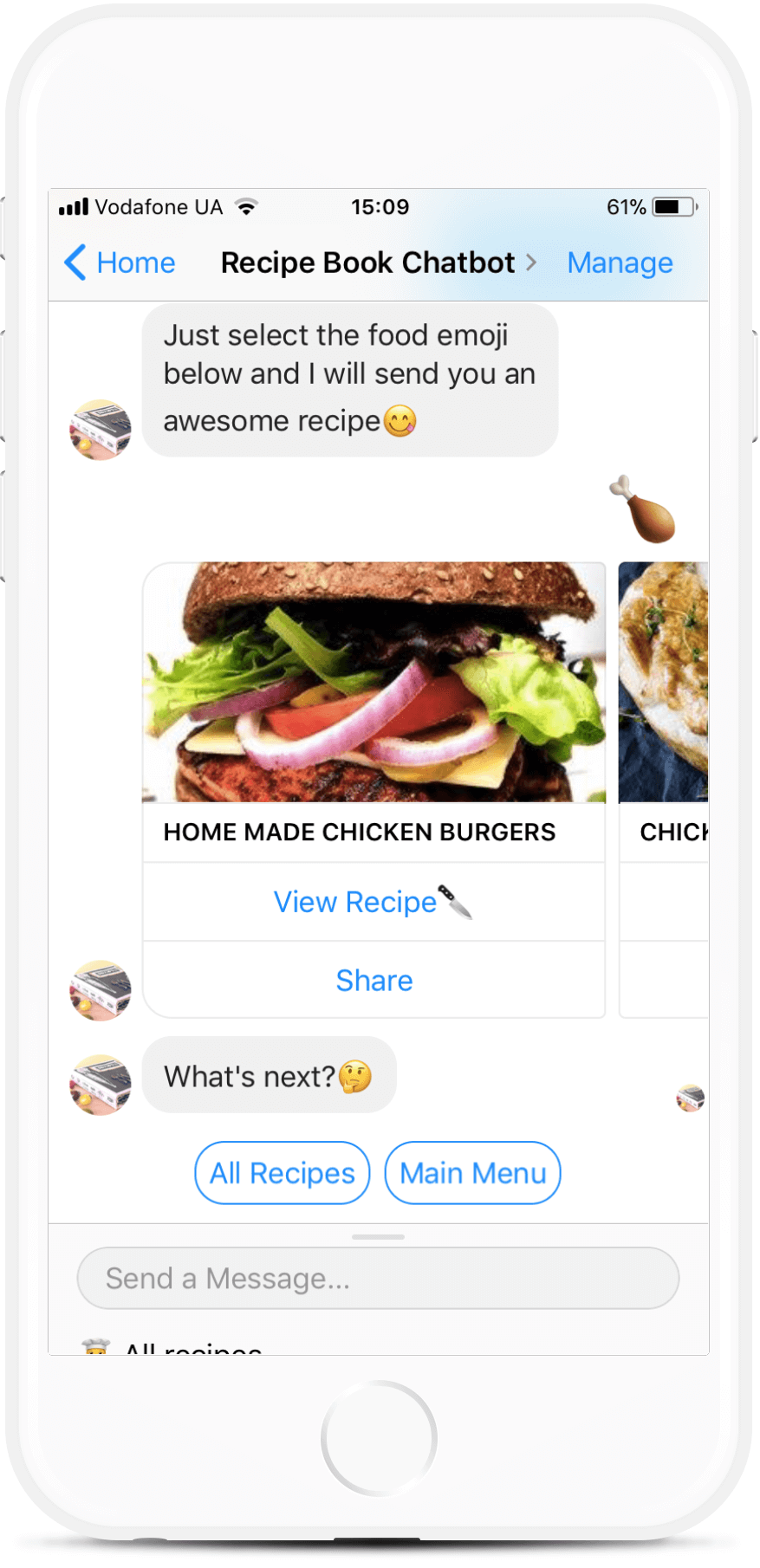 Recipe Book Chatbot Template for Food Blogs for $59