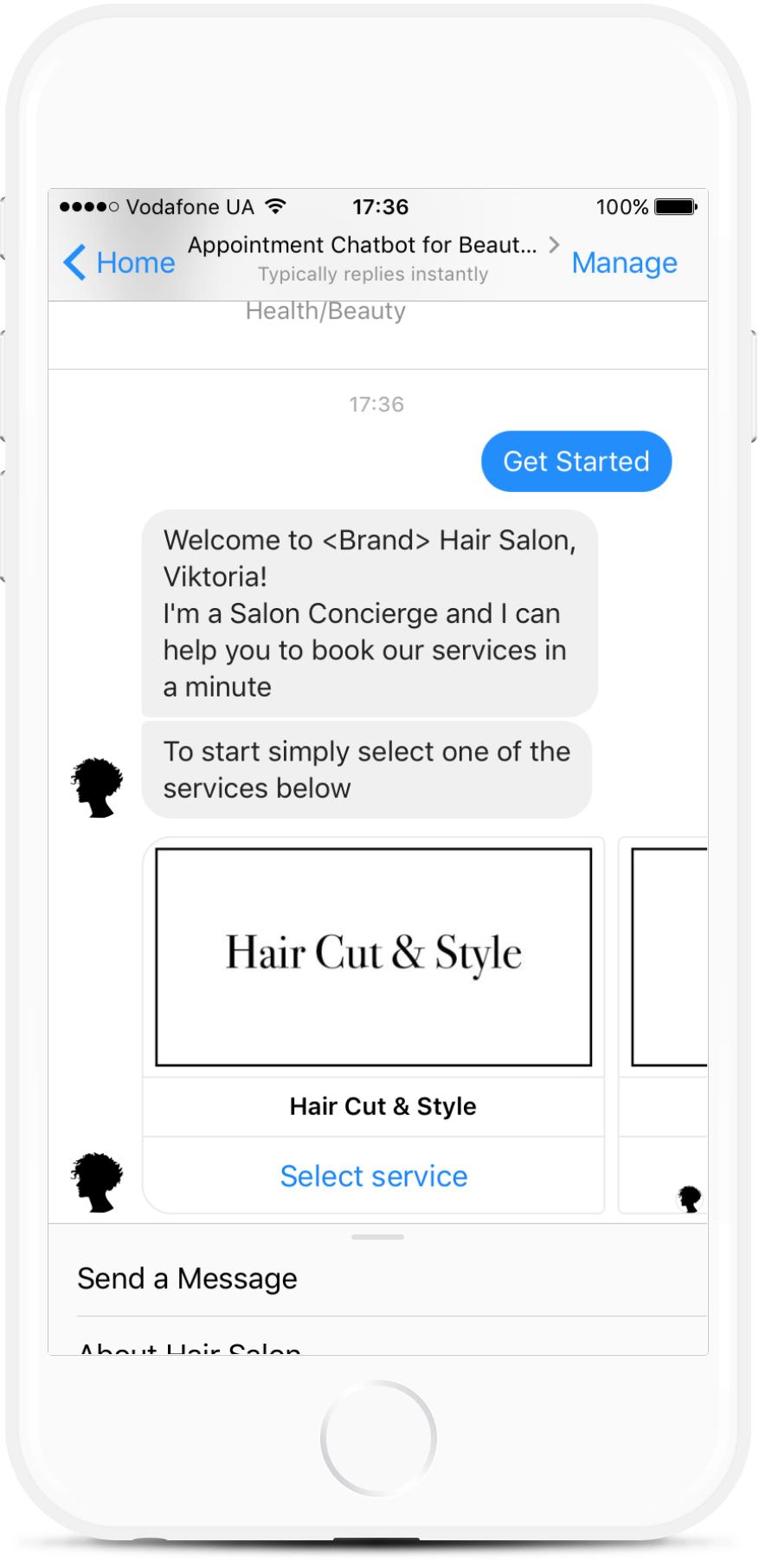 Facebook Appointment Chatbot for Hair Salon for $49   #messenger #bottemplates #bots #chatbots #aibots #fbmessenger #botmakers
