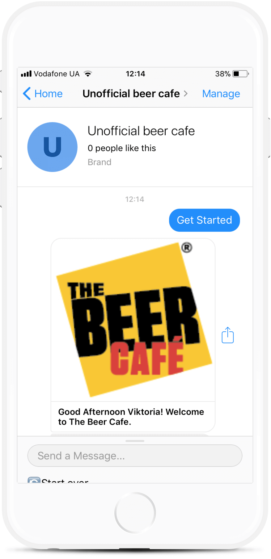 Restaurant Ordering and Payments Chatbot for Messenger