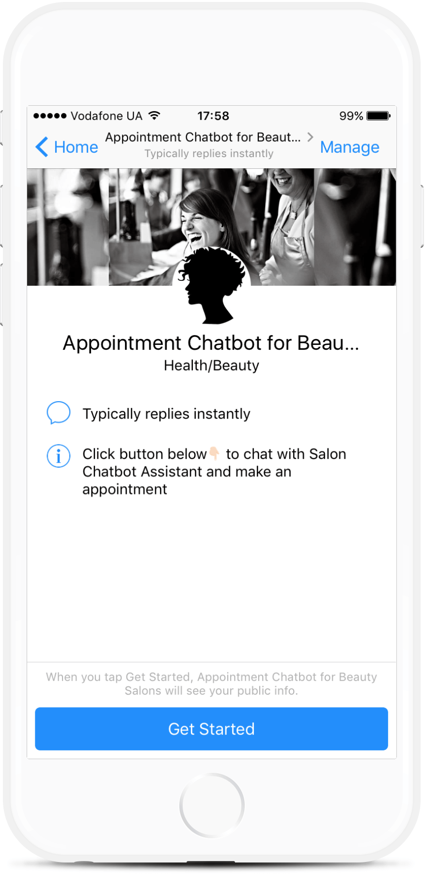 Facebook Appointment Chatbot for Hair Salon