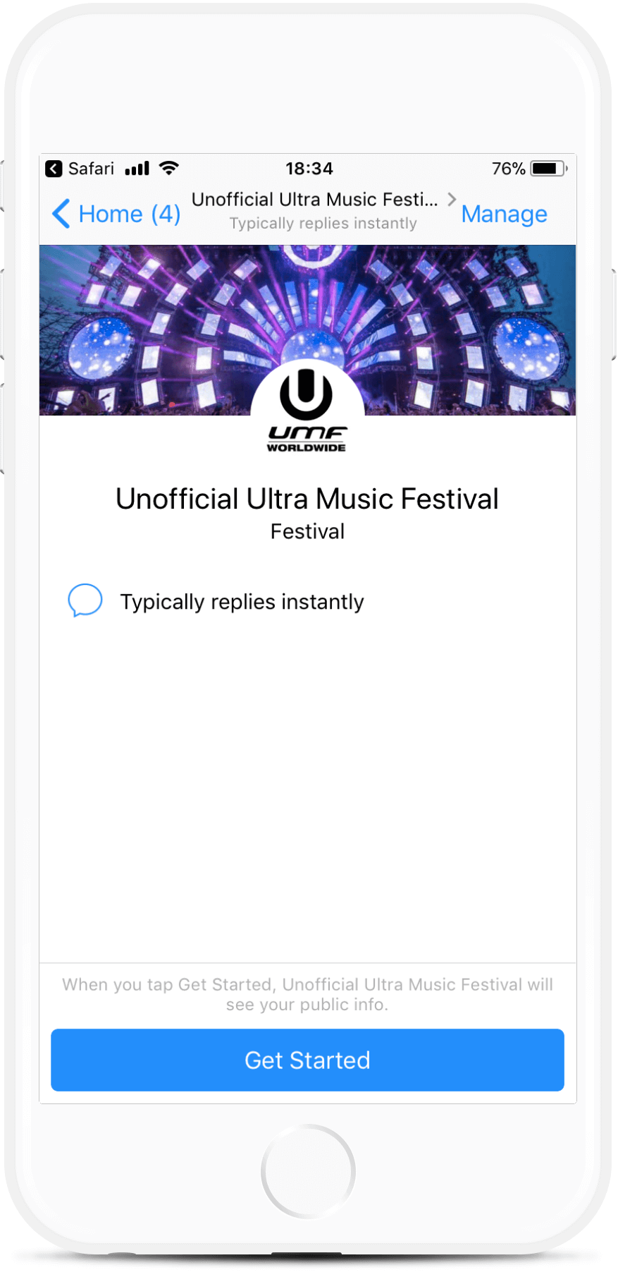 Festival and Event Messenger Bot