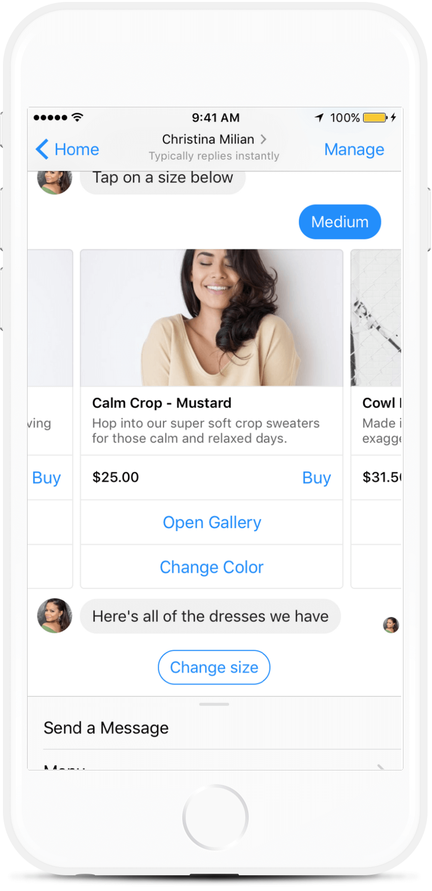 Messenger Chatbot Like Christina Milian