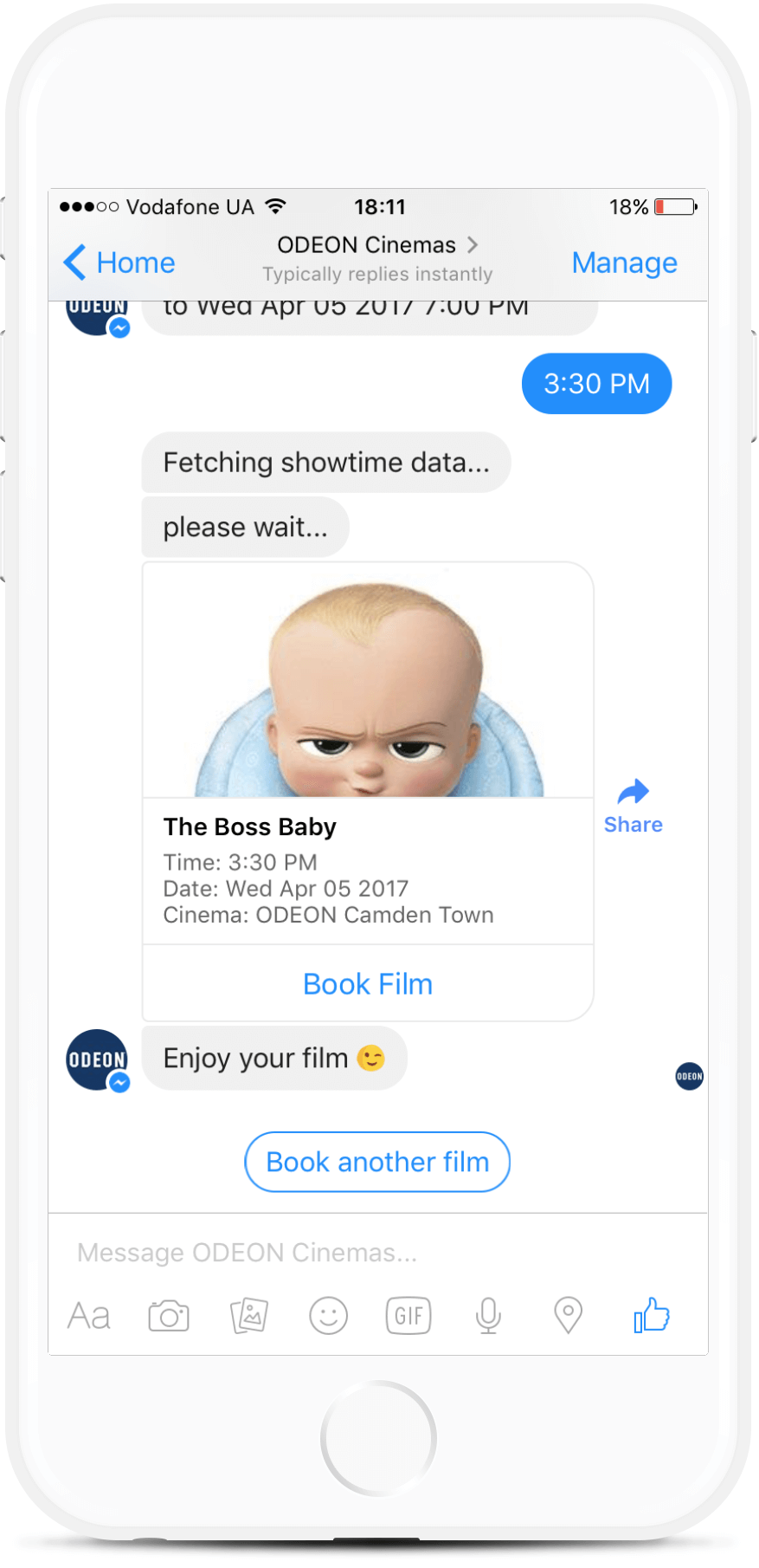 Cinema Tickets Chatbot
