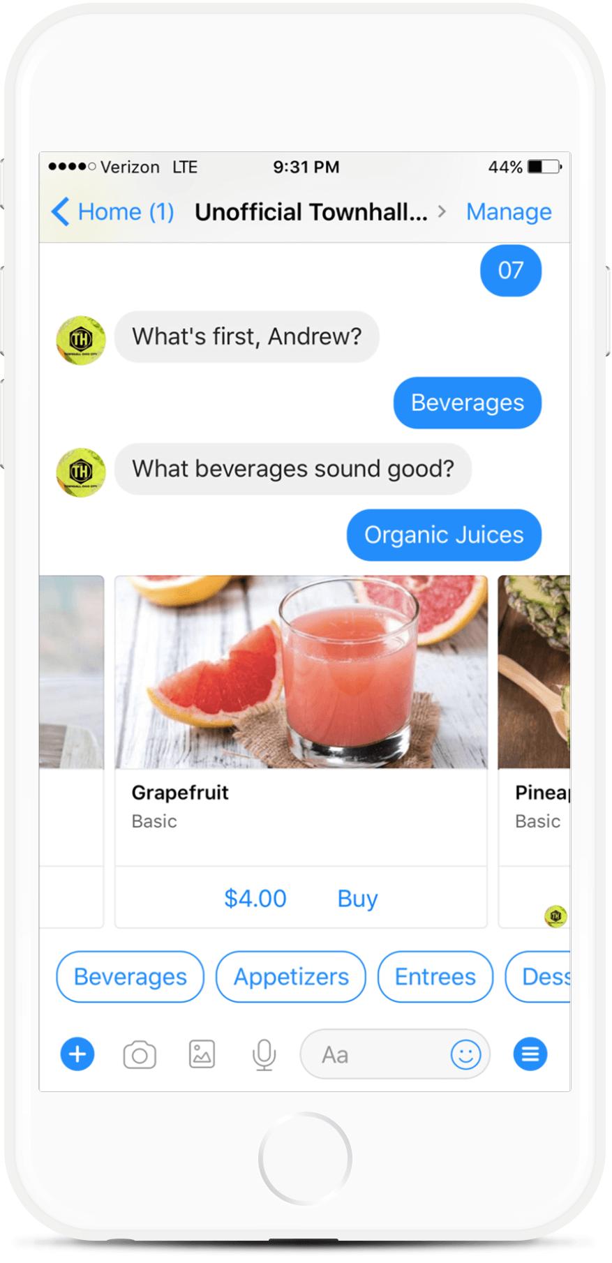 Ordering Assistant Messenger Chatbot For Restaurants for $79   #messenger #bottemplates #bots #chatbots #aibots #fbmessenger #botmakers