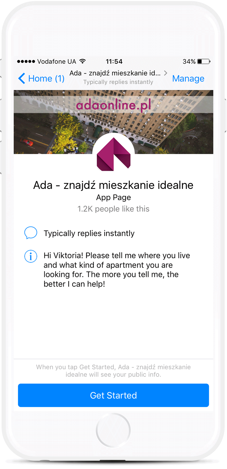 Apartments Search Facebook Bot