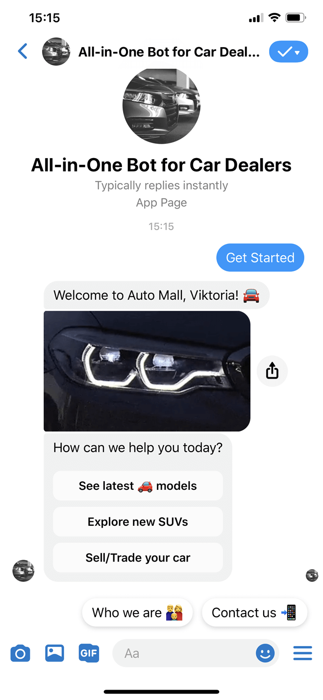 All-in-One Bot for Car Dealers