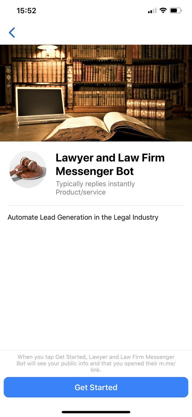 Lawyers and Law Firms bot screenshot