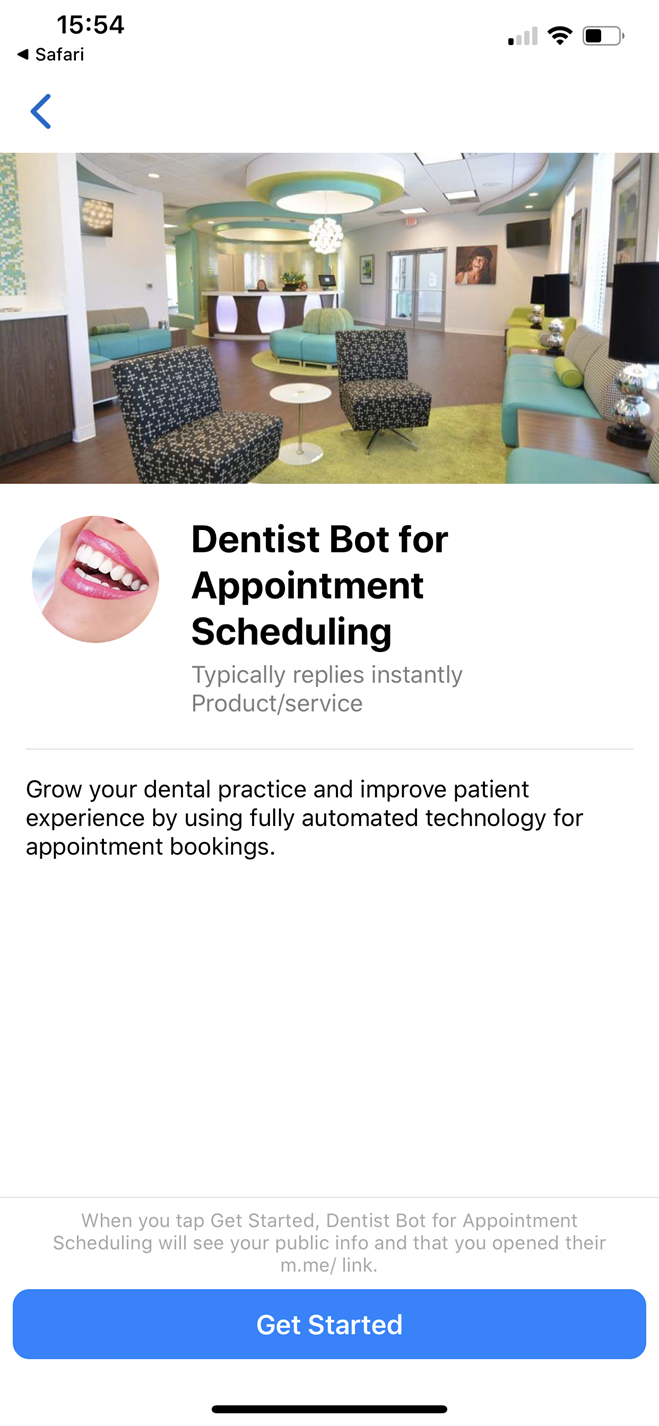 Dentist Chatbot for Appointment Scheduling