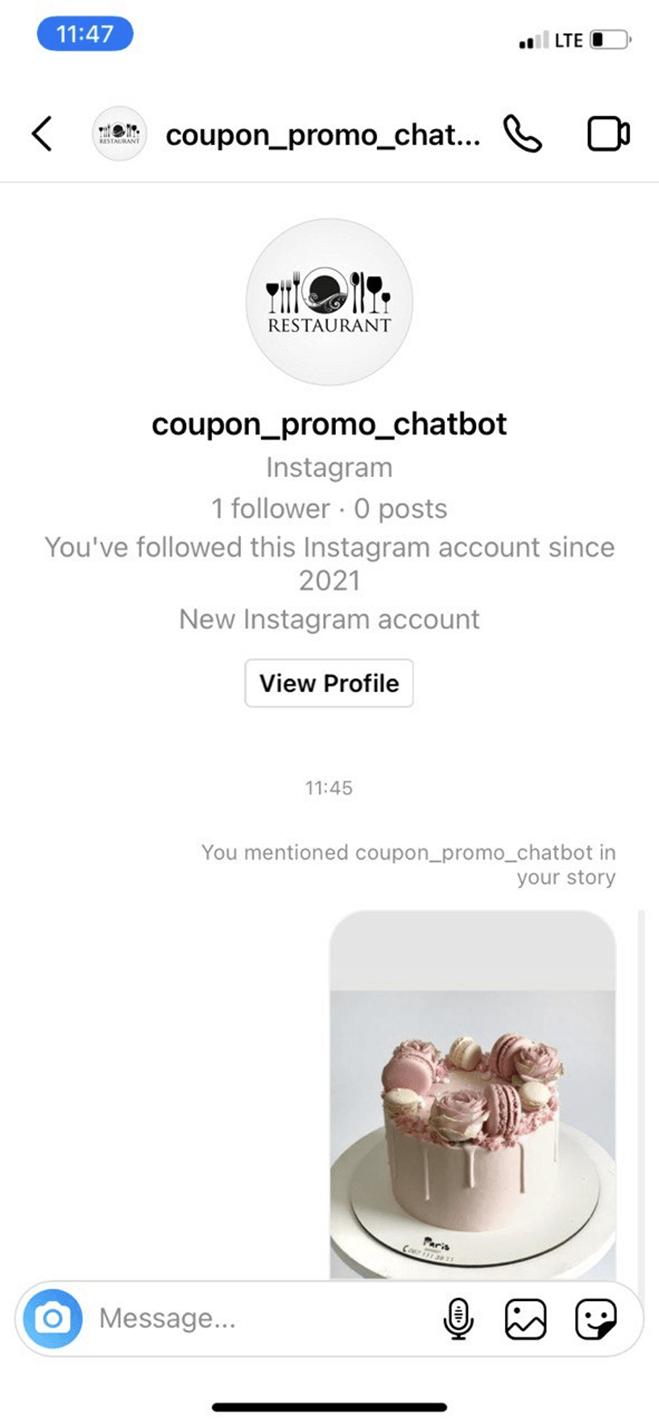 Coupon Promotion Bot for Instagram bot screenshot