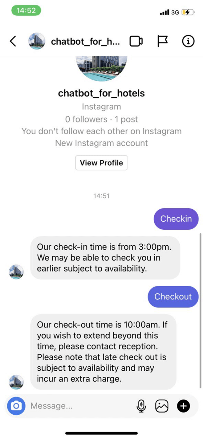 All-In-One Instagram Bot for Hotels bot screenshot
