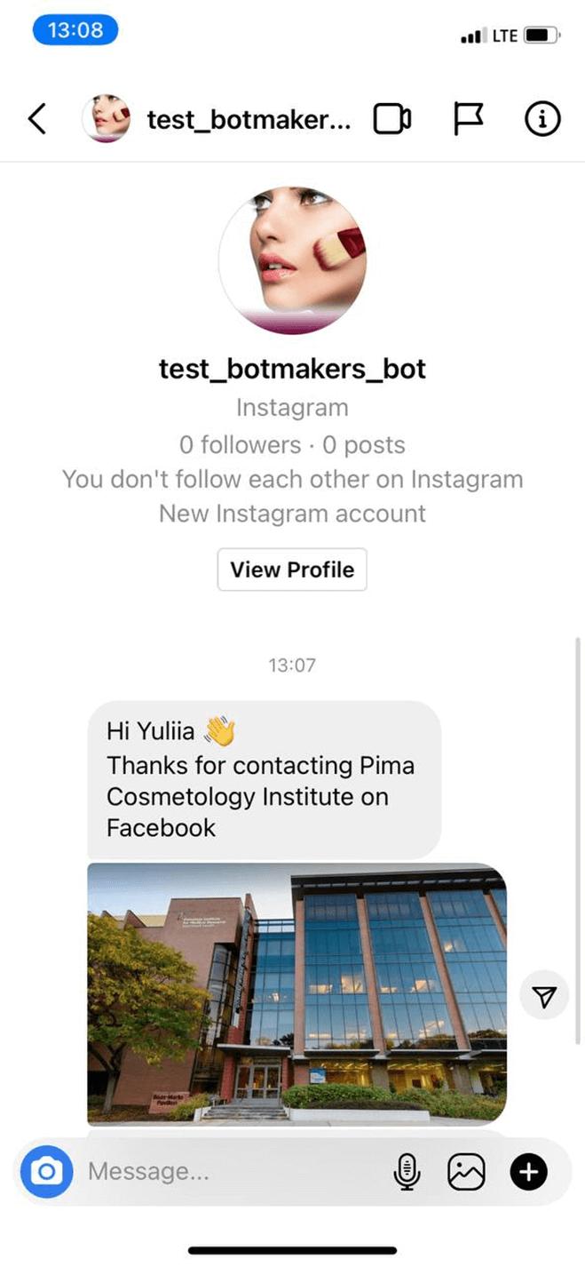Training organization bot screenshot