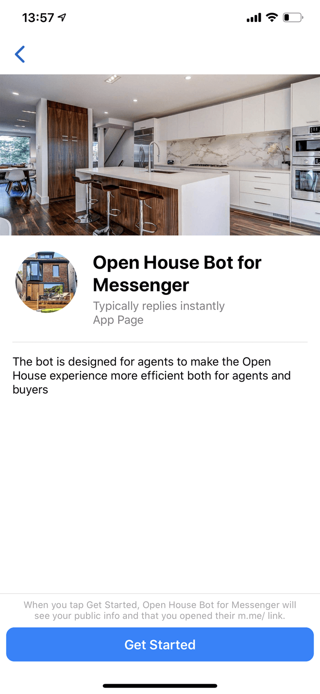 Open House bot screenshot