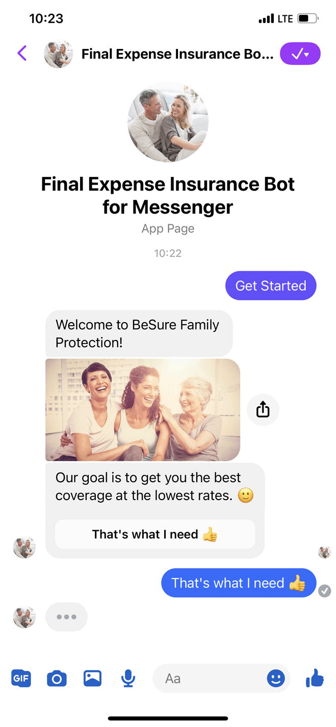 Final Expense Insurance Bot for Messenger