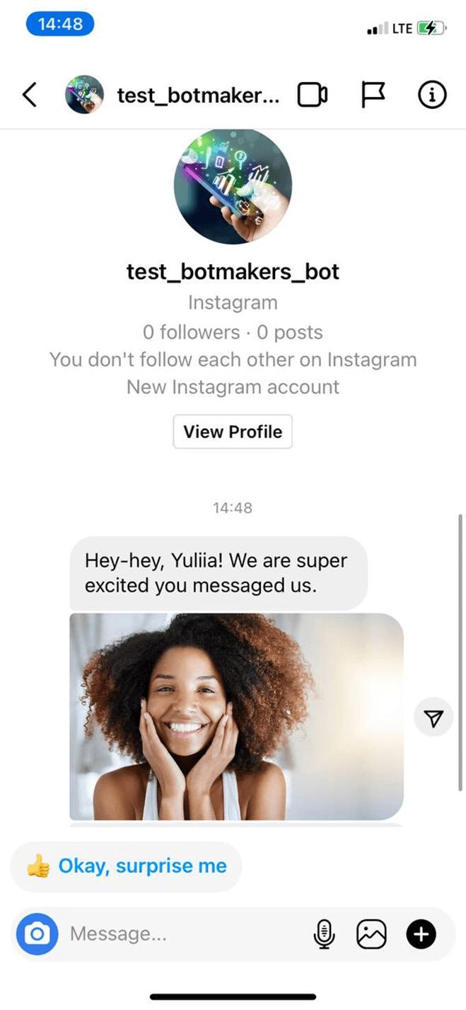 Instagram Bot for Marketing Agency bot screenshot
