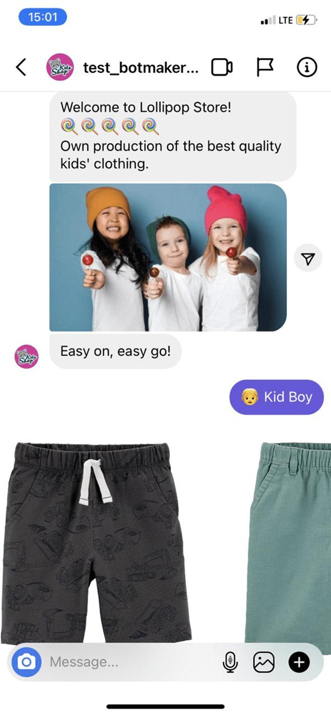 Instagram Bot for Clothing Brands bot screenshot