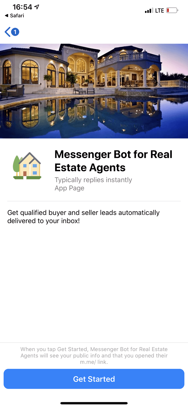 Real Estate bot screenshot