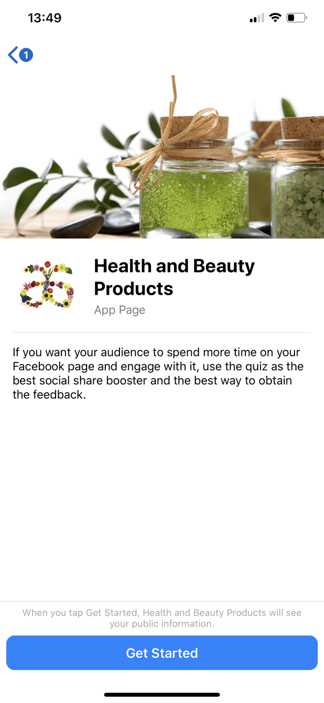 Health and Beauty Products Bot for Facebook