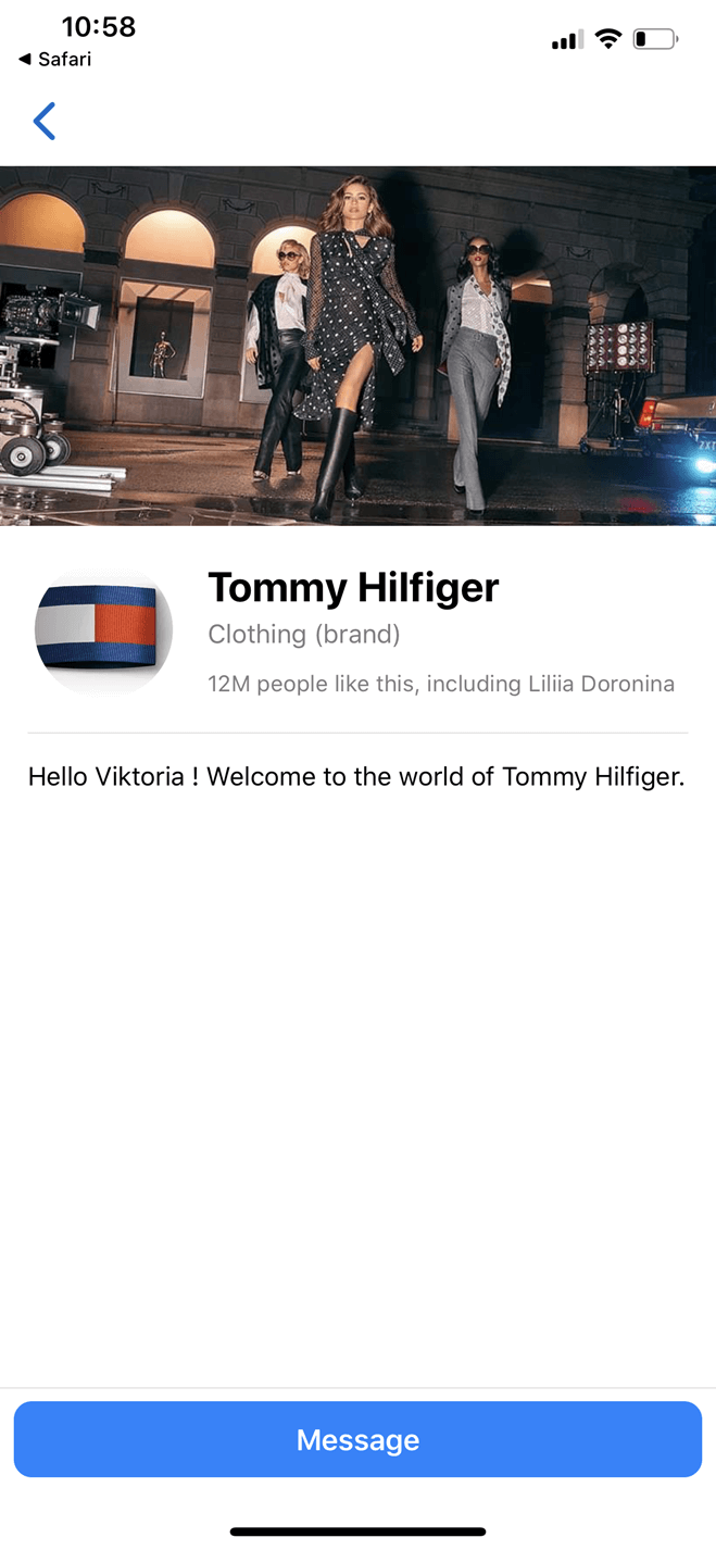 Tommy Hilfiger bot screenshot