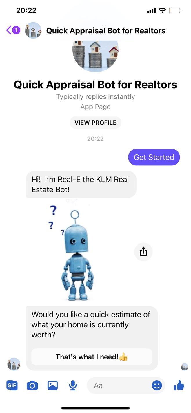Quick appraisal bot screenshot