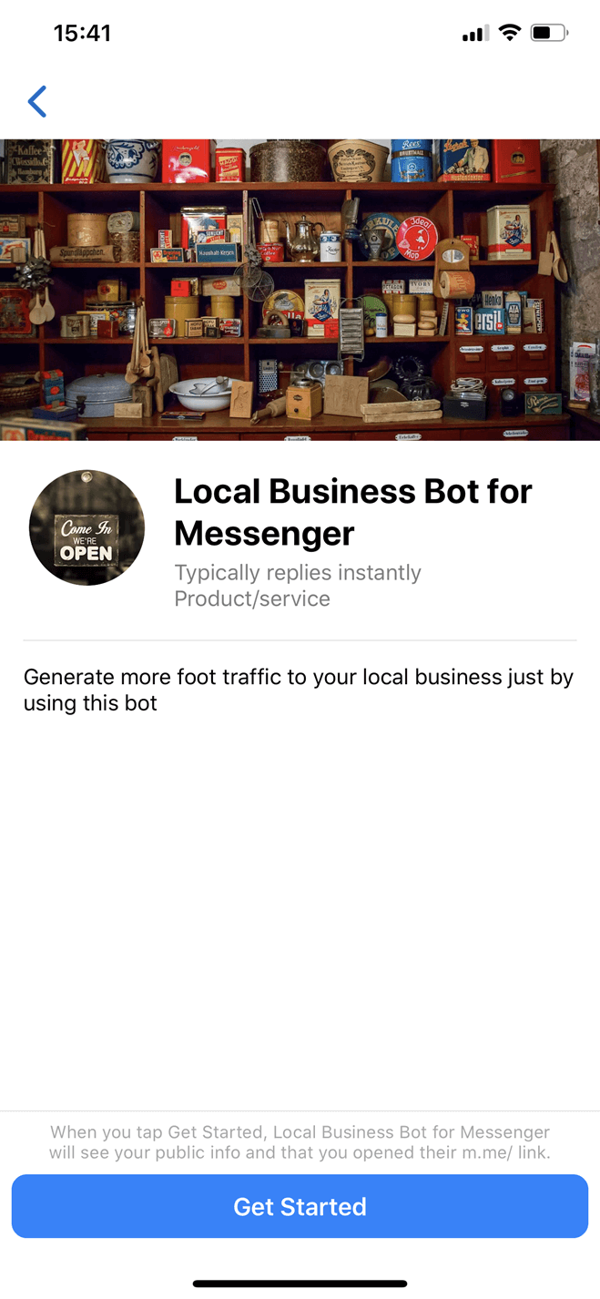 Local Business bot screenshot