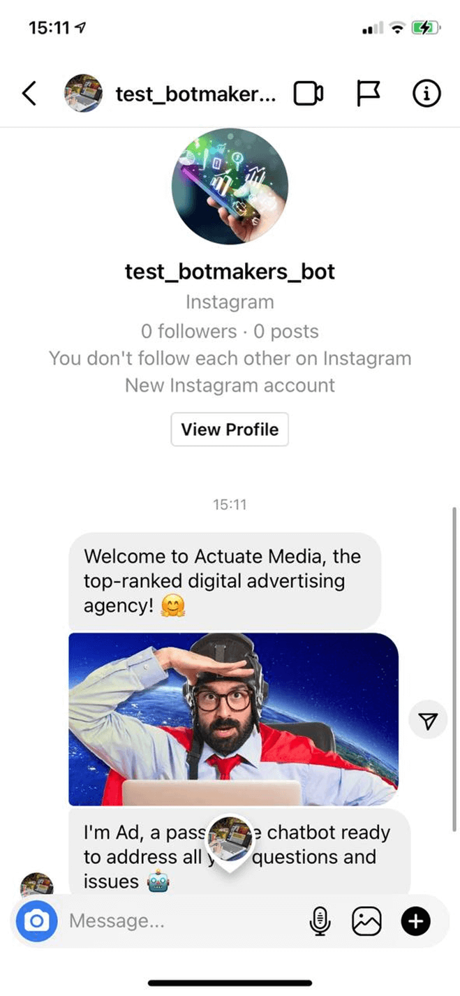 Advertising Agency Instagram Bot bot screenshot