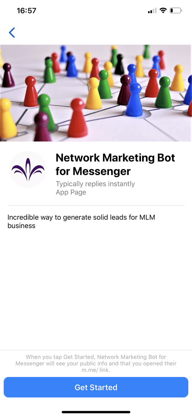 Chatbot para Mercadeo en red o Multinivel en Messenger