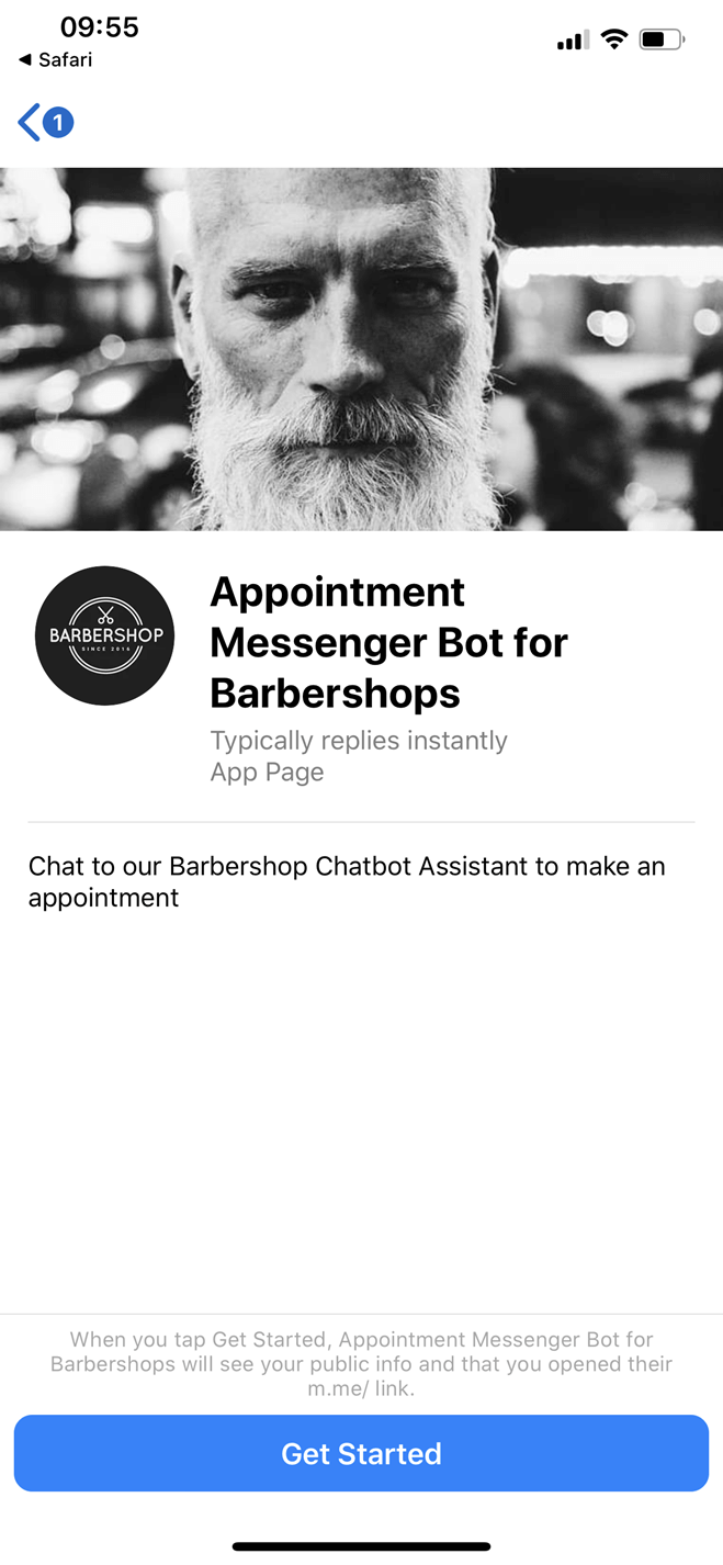 Appointment Messenger Bot for Barbershops