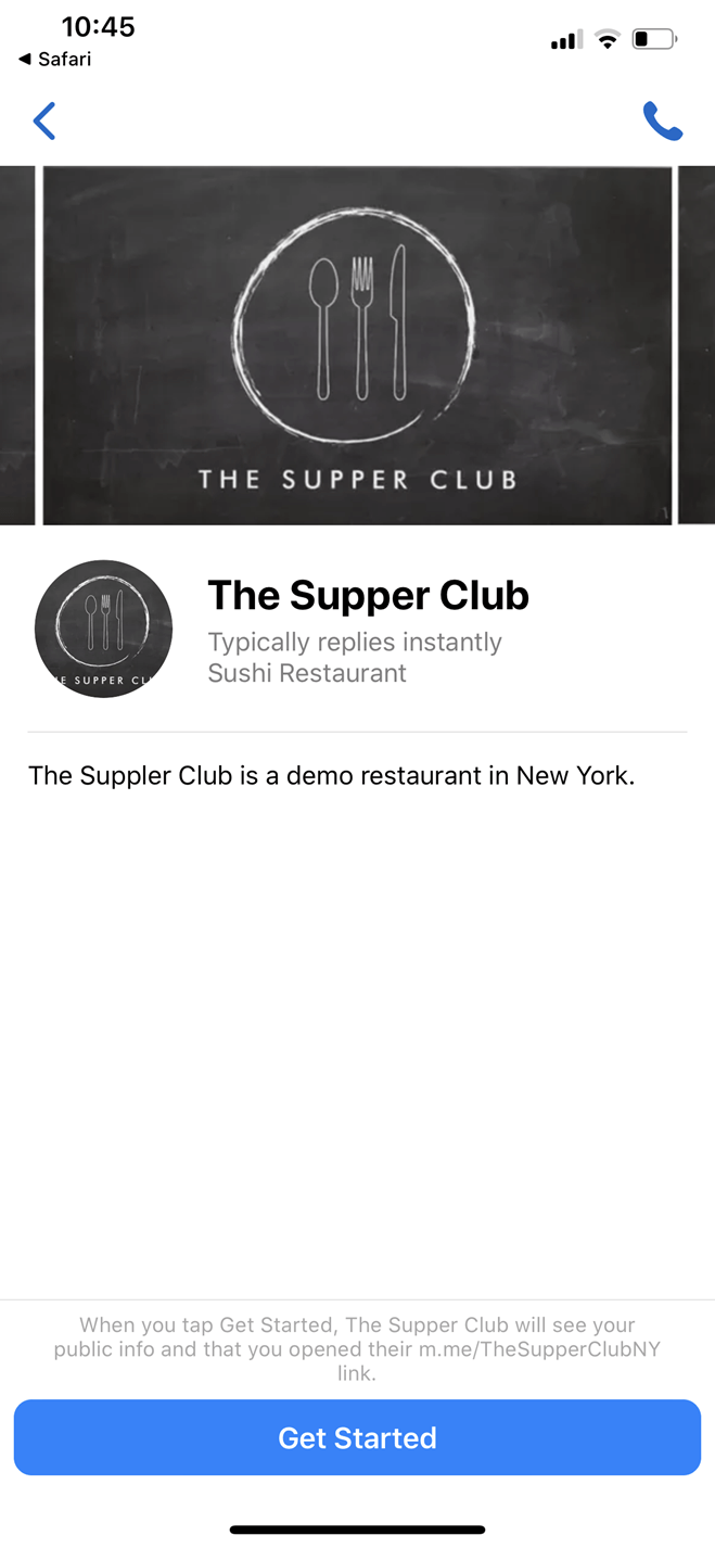 HeyMojo Supper Club bot screenshot