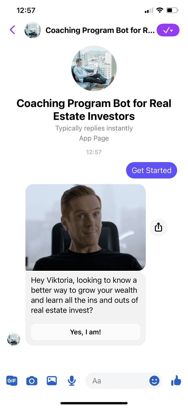 Coaching Program Bot for Real Estate Investors