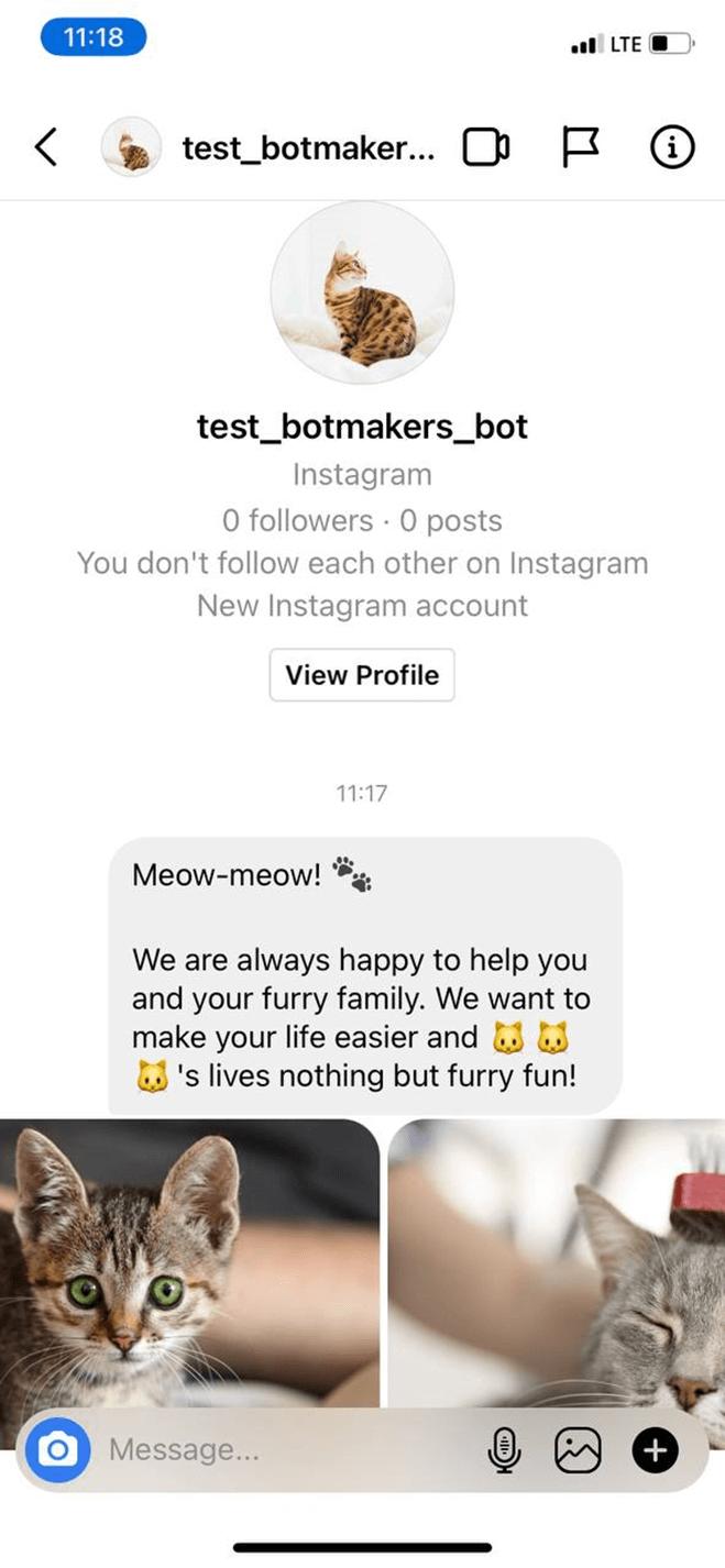 Pet Care Service bot screenshot