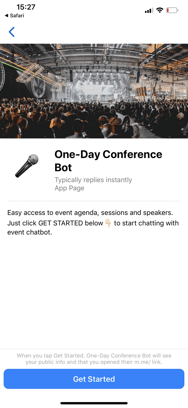 One-Day Event bot screenshot
