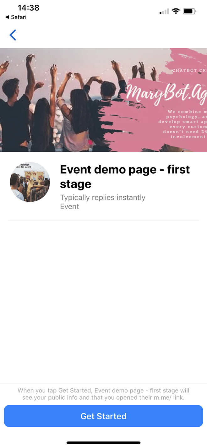Lead Generation Chatbot for Event