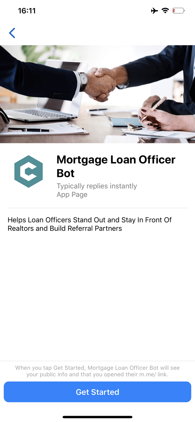 Mortgage Loan Officer bot screenshot