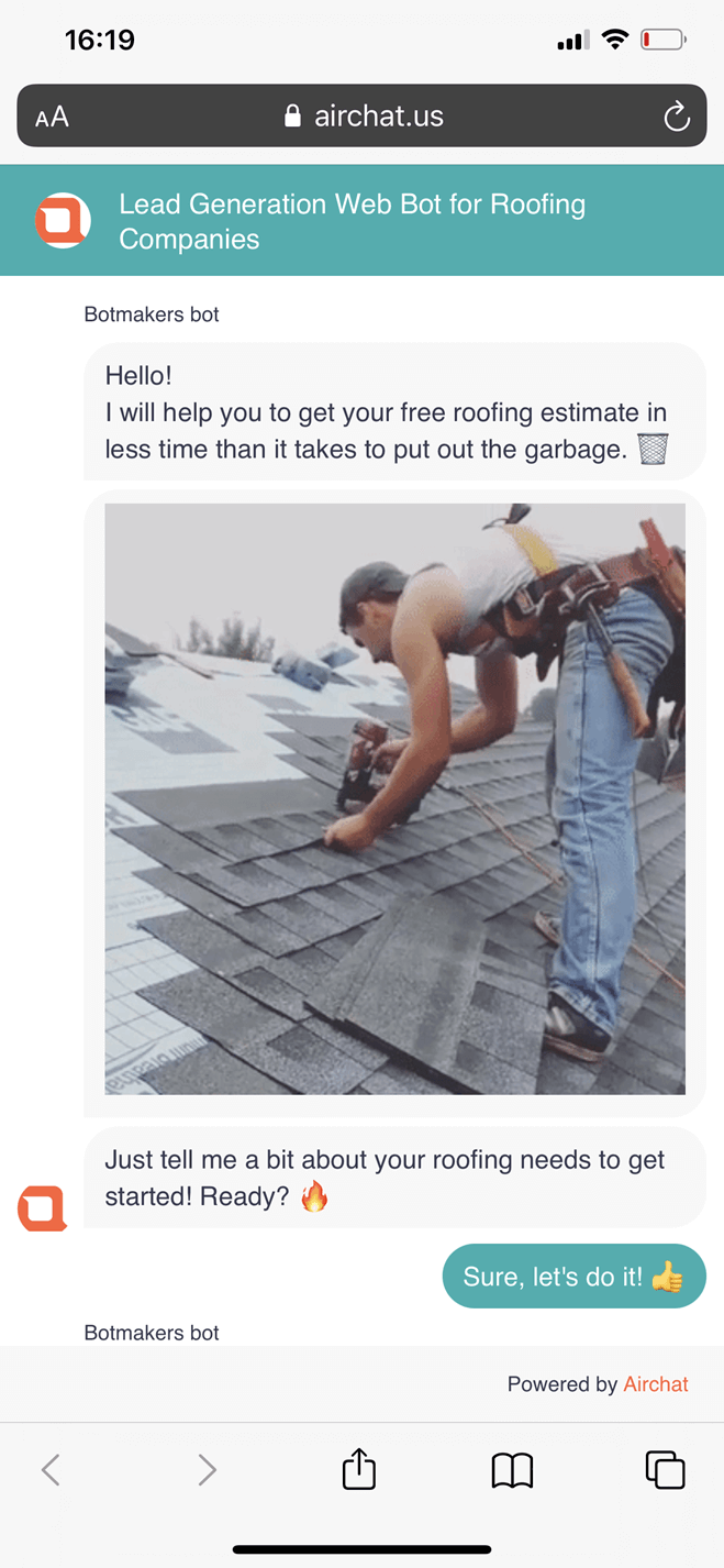 Website Bot for Roofing Companies