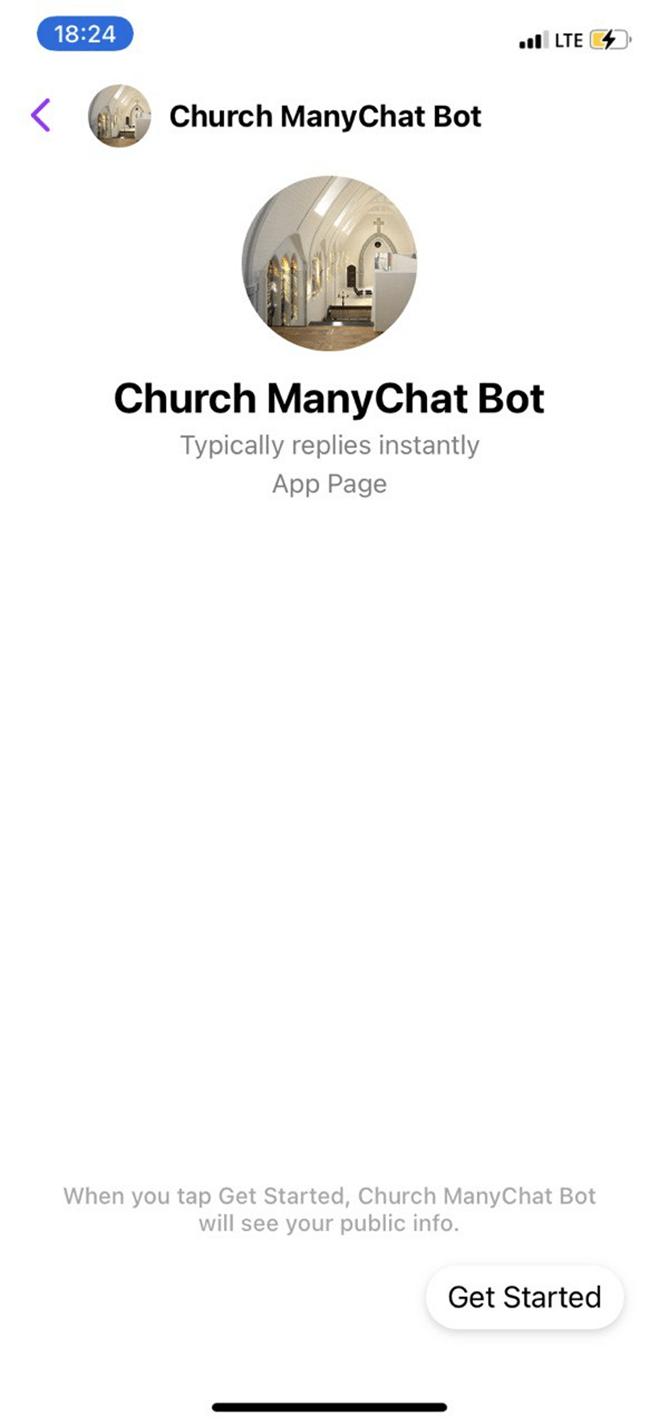 Church ManyChat Bot bot screenshot